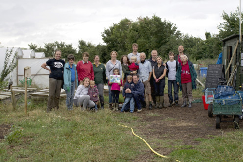 Members of The Oak Tree Low Carbon Farm Community Supported Agriculture Scheme at a recent Saturday farm working party.