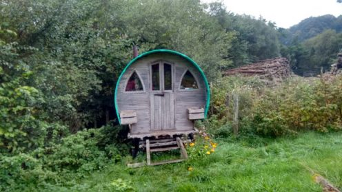 Adorable caravan accommodation for trainees at Chagfood.