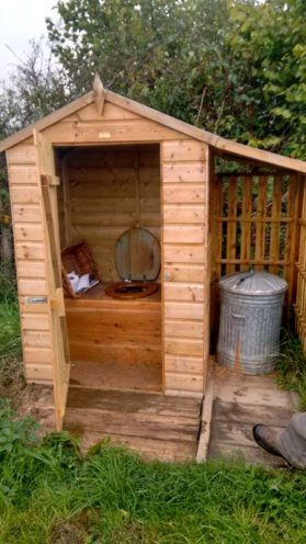 Their lovely composting toilet. Remember, there are composting loos in our proposed farm community building!