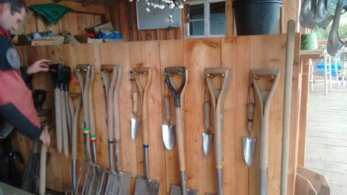 A lovely, organised tool wall. We don't have space now... but if we get our building...