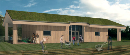 The latest 3D image of the proposed farm community cafe and training centre