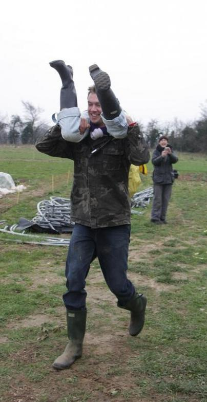 """Tom, along with his lovely wife Kirsty, are reigning """"wife carrying"""" champions of Great Briton"""