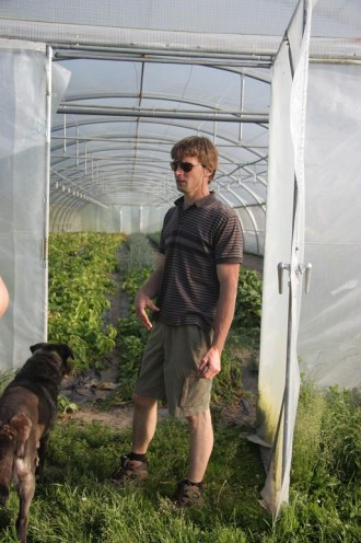 Florent, and his amazing polytunnels