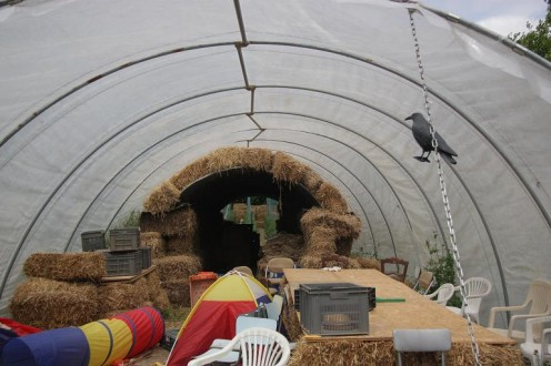 Polytunnel vegetable clamp
