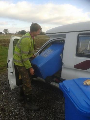 How many wheelie bins go into a small campervan? Four!