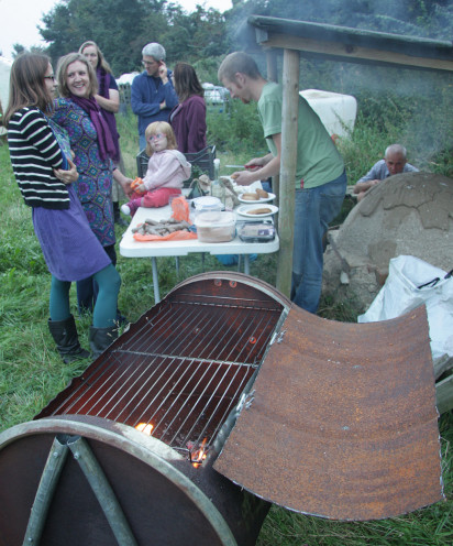 Dave's barbecue made from a metal drum