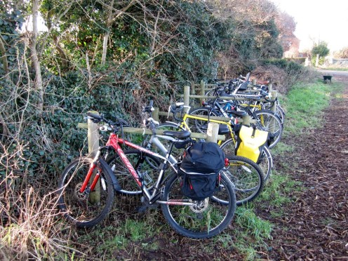 Lots of members took advantage of the sunshine to cycle to the farm.