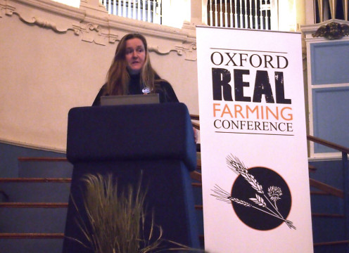 Joanne summing up her experiences of the ORFC at the final plenary