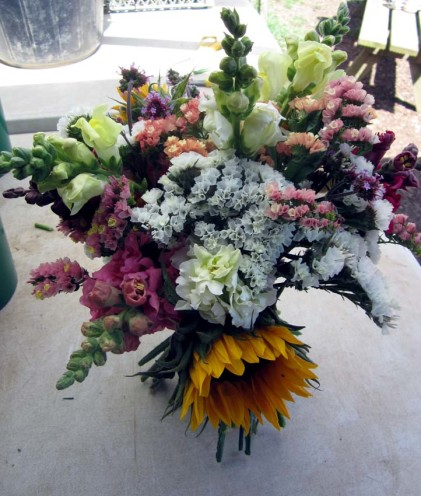 A close up of Joanne and Clare's bouquet...