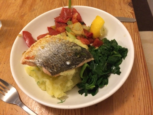 Fennel, Salmon and Mash