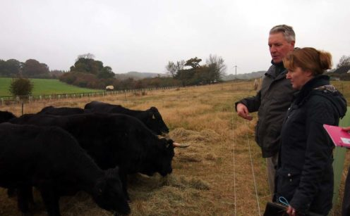 Nigel and Wendy Griffith of Landews Meadow Farm.