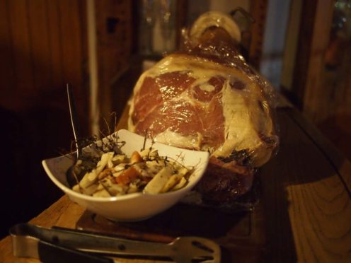 Amazing air dried ham to start...